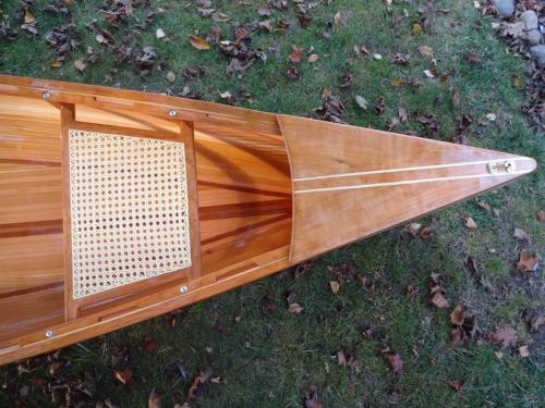 Canoe aft seat