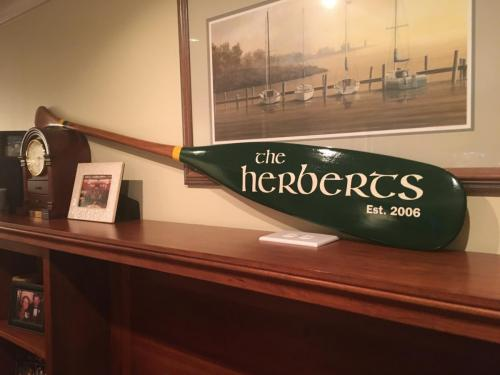 The Herberts personalized paddle